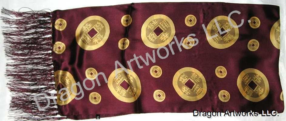 Chinese Symbol For Money Silk Scarf